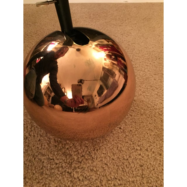 Modern Mid-Century Lightolier Gold Orb Eye Track Light For Sale - Image 3 of 8
