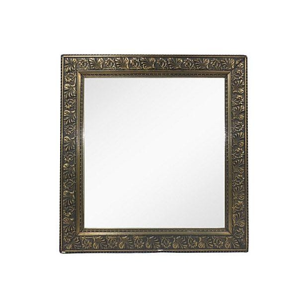 Raised Relief Floral Gilt & Gesso Mirror - Image 1 of 4