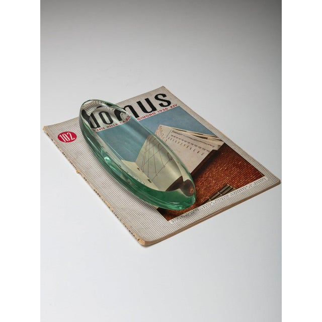 1950s Italian 50s Green Nile Glass Tray For Sale - Image 5 of 6