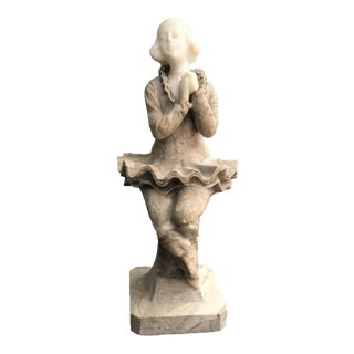 19th Century Italian Hand Carved Marble Sculpture of a Maiden For Sale