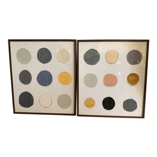 """Framed Collage Prints """"Twister 1 and Twister 2"""" by Artist Karen Cappotto, Mitchell Gold + Bob Williams - A Pair For Sale"""