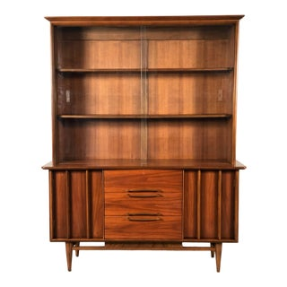 Kent Coffey the Eloquence Mid-Century Modern China Cabinet / Bookcase / Display Case For Sale