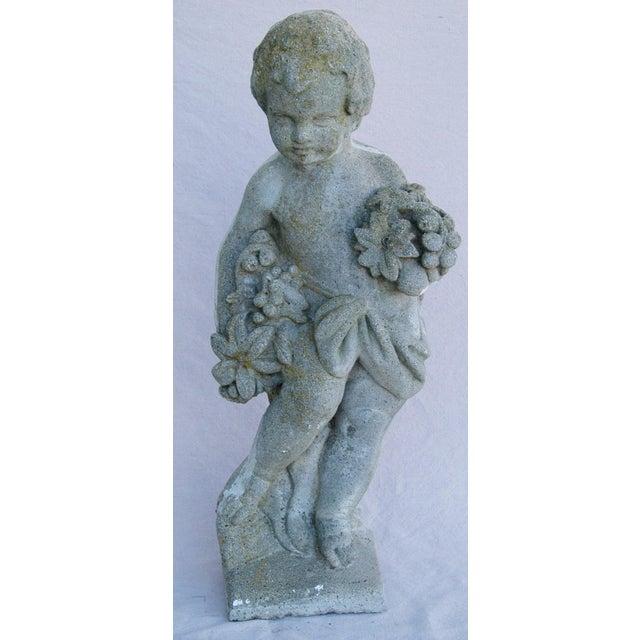1950s Concrete Cherub Garden Statue - Image 3 of 11