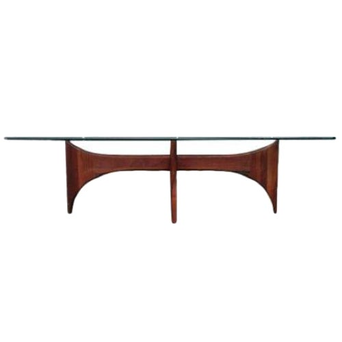 Adrian Pearsall Glass Top Coffee Table - Image 1 of 5