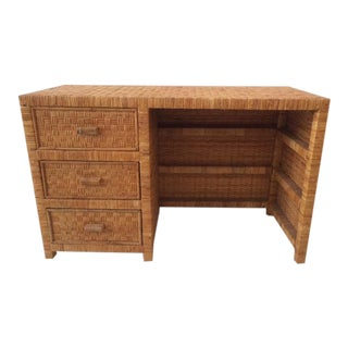1980s Boho Chic Bielecky Brothers Writing Desk For Sale
