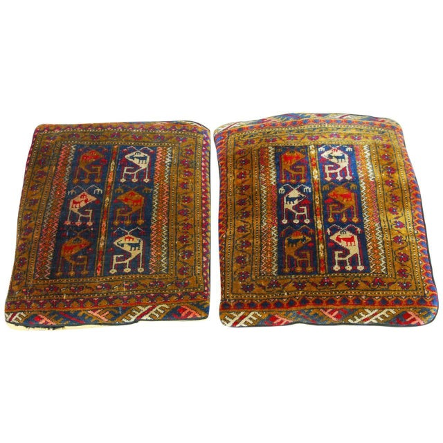 Oversized Turkish Rug Pillows - A Pair - Image 1 of 6