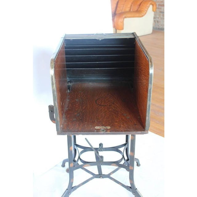 Early 1900s American Industrial Roll Top Desk/Table by Toledo - Image 5 of 6