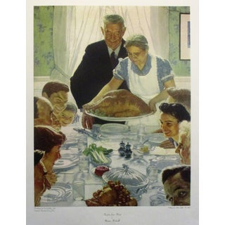"Norman Rockwell ""Freedom From Want"" Original 1960s Collotype For Sale"