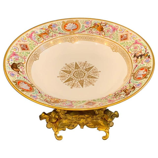 Sevres Porcelain Ormolu Tazza, From the Hunting Service of King Louis Philippe For Sale - Image 12 of 12