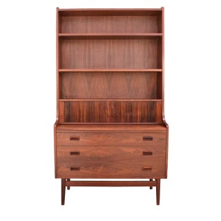 Vintage Danish Mid-Century Modern Secretary Bookcase in Rosewood by Johannes Sorth
