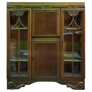 Art Deco Bookcase Desk For Sale