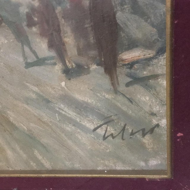 Antique Impressionist Framed Oil Painting by Francesco Filosa (1910-1990) For Sale - Image 4 of 11