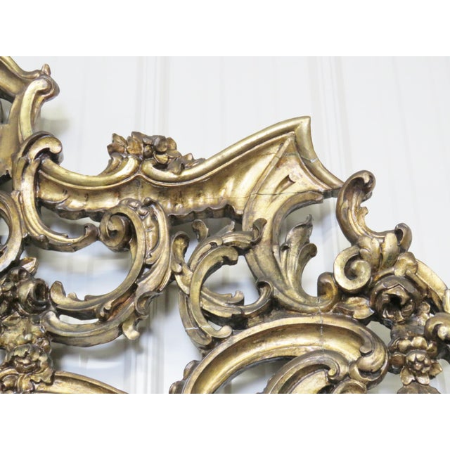 Italian Style Figural Gilt Carved & Marble Console &Mirror For Sale - Image 9 of 10