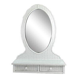 Lexington Wicker Henry Link Mirror For Sale
