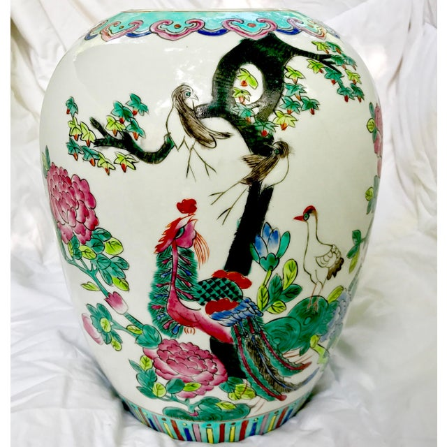 Vintage Large Chinese Famille Rose Mellon Shaped Vase - Image 2 of 6