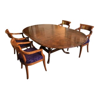 Guy Chaddock Kettering Round Pedestal Dining Table Set - 5 Pieces For Sale