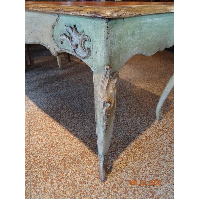 19th Century French Writing Desk With Leather Top For Sale - Image 4 of 13
