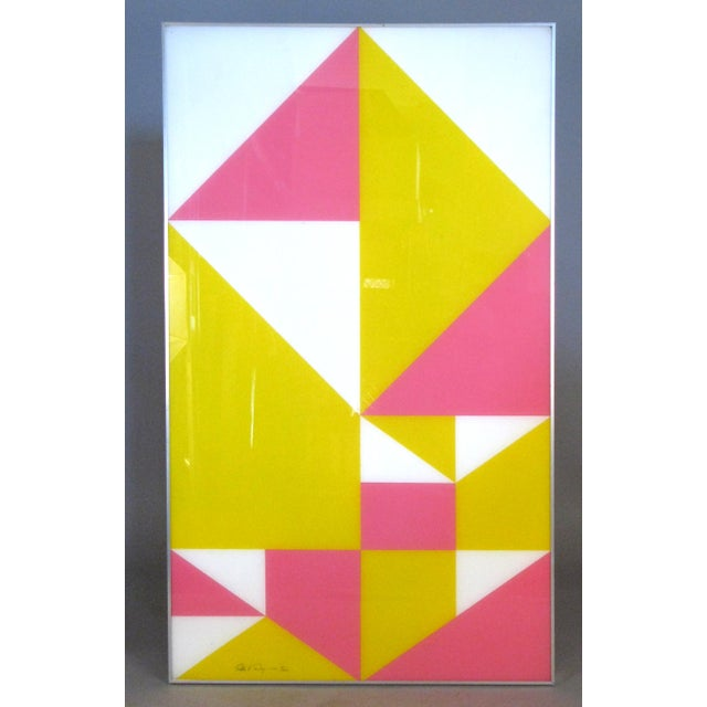 1960s Modern Framed Lucite Abstract Art For Sale In New York - Image 6 of 6