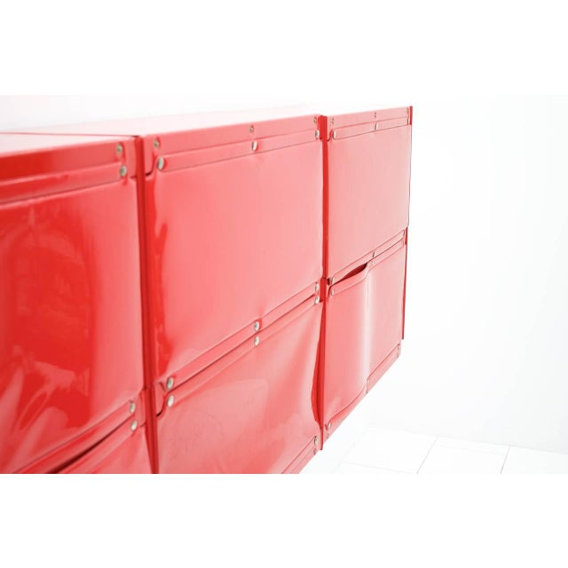 Mid-Century Modern Rare Otto Zapf Red Plastic Shelf System, Germany 1971 InDesign For Sale - Image 3 of 9