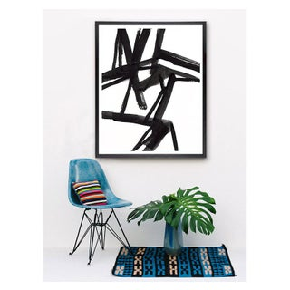 """Large Black and White Abstract Modern Art - """"Shadows #2"""" Unframed Giclée Print Preview"""