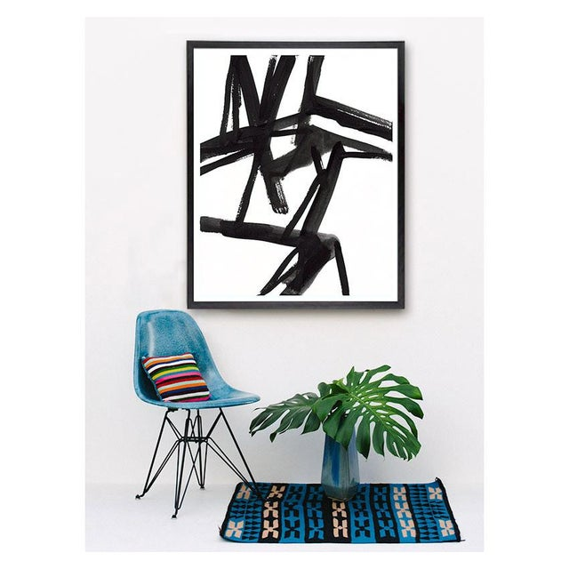 This series of Abstract Black and White paintings takes inspiration from Mid-Century Action Painters and Japanese brush...