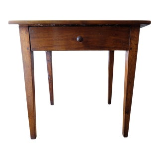 19th Century Mission Style Walnut Side Table For Sale