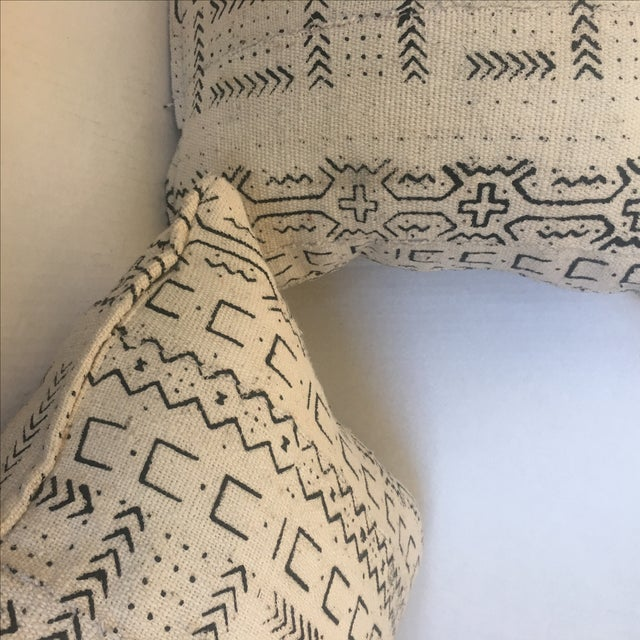 African Mud Cloth Pillows - a Pair - Image 6 of 6
