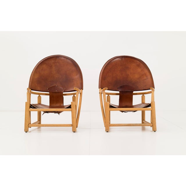 Werther Toffoloni and Piero Palange for Germa. Pair of Model GE 23 lounges chairs in excellent vintage condition. These...