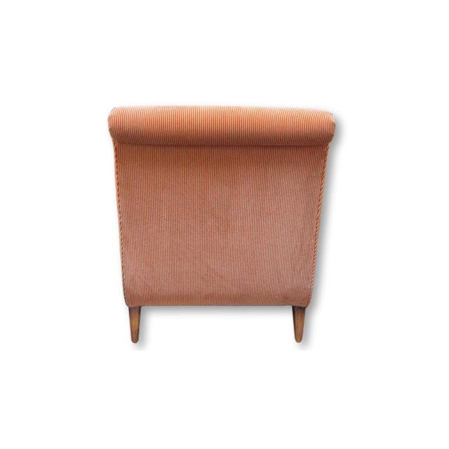 A. Rudin Velvet Stripe Lounge Chair - Image 4 of 9