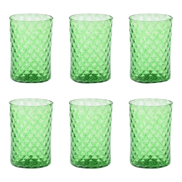 Rosemary Mandala Drinking Glass - Set of 6 For Sale