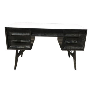 Vintage Ebonized Oak Desk for Vanleigh For Sale