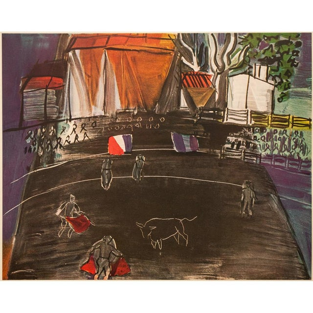 """An excellent vintage First Edition offset lithograph after oil painting """"Bullfight"""" (1948) by Raoul Dufy. Comes from a..."""