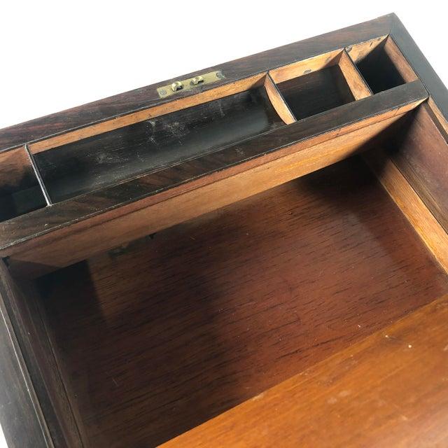 English Mid 19th Century William IV Period English Rosewood & Ebony Writing Box For Sale - Image 3 of 6