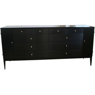 Paul McCobb Planner Group 20 Drawer Ebony Dresser For Sale
