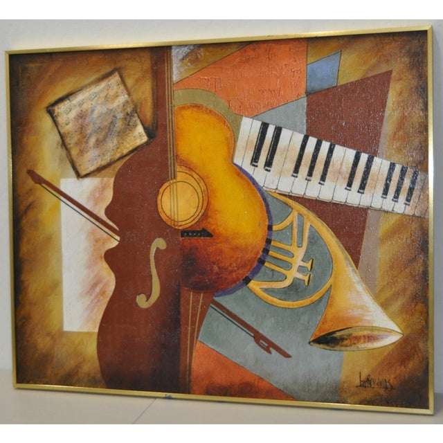 "Lee Reynolds Vintage ""Music"" Painting C.1960s - Image 4 of 7"