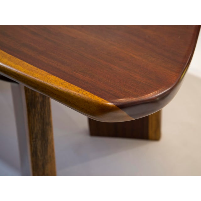 Mid-Century Modern Rare Brazilian Table in Jacaranda From 1980's For Sale - Image 3 of 5