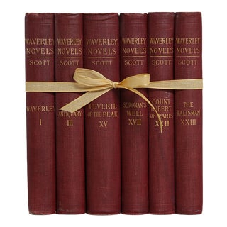 Antique Bordeaux Sir Walter Scott Gift Set, S/6 For Sale