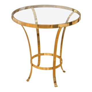 Polished Brass Occasional Table For Sale