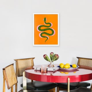 """Small """"Marmalade the Snake"""" Print by Willa Heart, 16"""" X 20"""" Preview"""