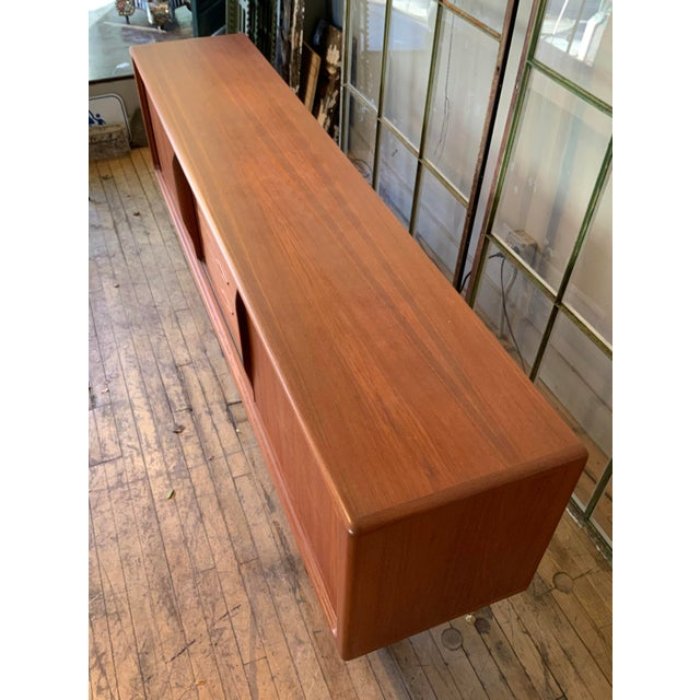 Beige Danish 1950s Teak Credenza Cabinet For Sale - Image 8 of 11