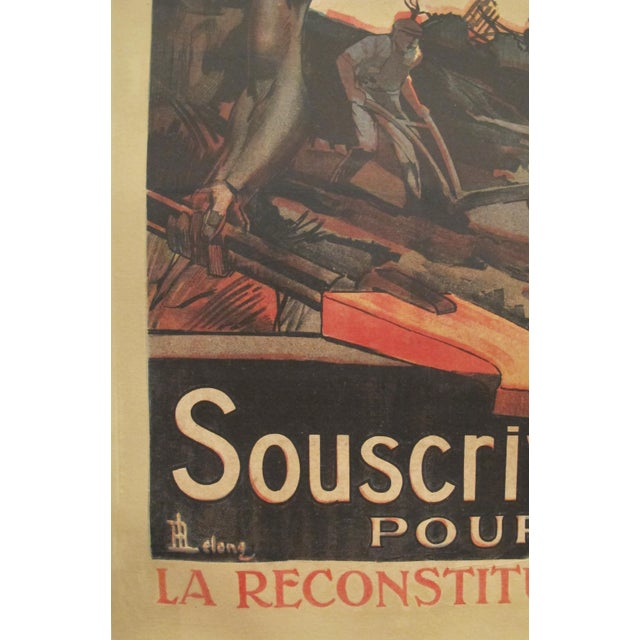1920 French Vintage Propaganda Poster, Credit National For Sale - Image 5 of 6