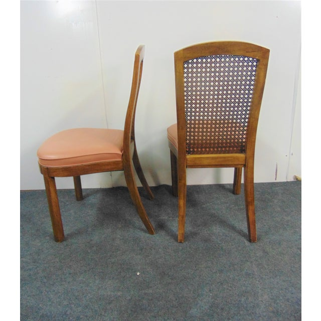Mid 20th Century Drexel Mid Century Modern Fruitwood Caned Dining Chairs - Set of 8 For Sale - Image 5 of 7