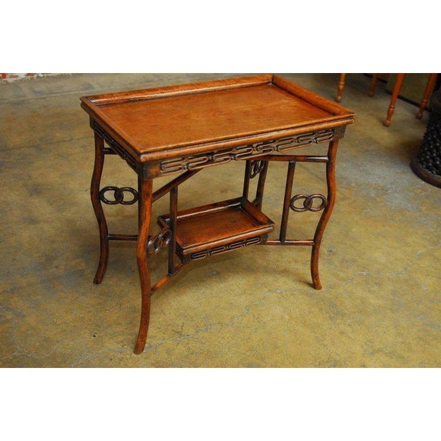 Chinese Qing Rosewood Folding Tray Table For Sale - Image 9 of 10