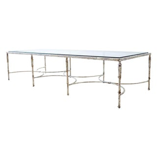 Patinated Neoclassical Maison Jansen Style Bronze Cocktail Table For Sale