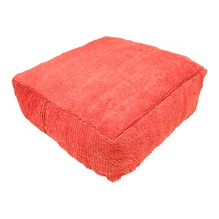 Moroccan Red Pouf Cover For Sale