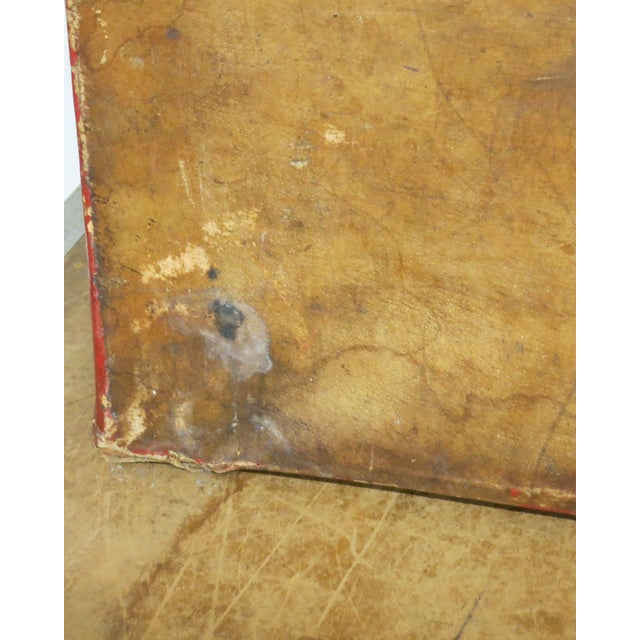 Antique Chinese Leather Trunk For Sale - Image 11 of 13