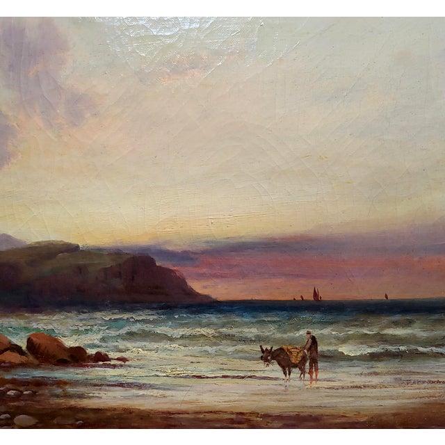 William Edward Webb - 19th Century Coastal Beach Scene -Oil Painting For Sale - Image 4 of 11