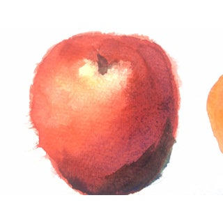 Three Apples, Vintage Watercolor Still Life Preview