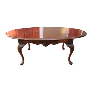 1950s Queen Anne Cherry Coffee Table For Sale
