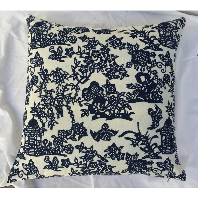 Blue & White Chinoiserie Pillows - A Pair - Image 6 of 9